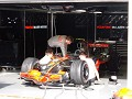 McLaren engineers preparing Lewis' car