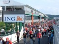 The revamped pitlane in Spa