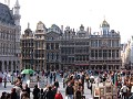 It's busy at the Grand Place in Brussels, tourist