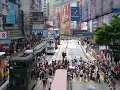 The busy hustle of Causeway bay; Hennessy Rd