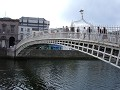 Spanning two Dublin worlds, the ha'penny Bridge.