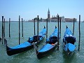 Gondolas and San Georgio Maggiorre backdrop