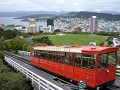 Wellington, cable car, city setting, downtown.