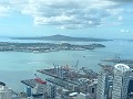 Auckland, from a bird's eye view, on top Skytower.