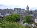 Princess Street as seen from Calton Hill..