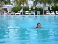 a dolphin at the pool, the Standard, Miami Beach