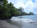 Hamoa Beach; close to Hana is one the lava beach a