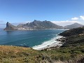 The coastal road to the Cape of Good Hope is just