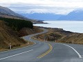 The Glen Lyon Road richting Mount Cook......