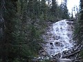 Yoho NP - Point Lace Falls, langs het wandelpad na