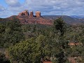 Sedona, Red Rock area, zicht op Cathedral Rock, Be