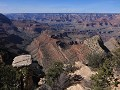 Grand Canyon - uitzicht tussen Grand View Point en