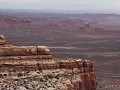 The Moki Dugway, uitzicht op Valley of the Gods