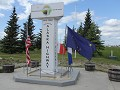 uiteinde van de Alaska Highway aan Delta Junction