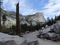 Yosemite NP - Yosemite Valley, langs Mirror Lake t