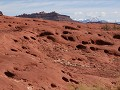 Moab, Shafer Trail, onverharde weg in de canyon