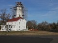 Sandy Hook Lighthouse en Fort Hancock, vuurtoren i