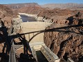 Hoover Dam en Lake Mead van op de Mike O'Callaghan
