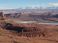 Dead Horse Point State Park - uitzicht Rim Trail,