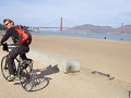 Fietstocht van en over de Golden Gate Bridge