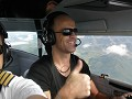 in the plane with instructor André