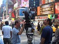 Everywhere in NYC you can see movie makers
