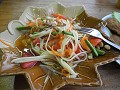 Lunch met green papaya salad, my favourite dish