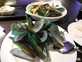 Flashy groene mossels with thai herbs
