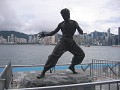 Bruce Lee statue, he's a bit of a local hero