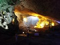 This is a cave inside one of the islands in Halong