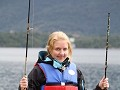 ready for fishing in the fjord from a boat
