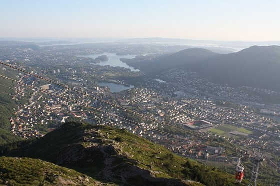 View from the top of Ulriken