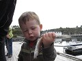 little Sondre happy with his fish