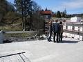 bezoek aan de bouwgrond